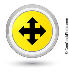 Move icon prime yellow round button