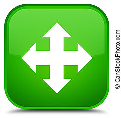 Move icon special green square button