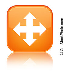 Move icon special orange square button