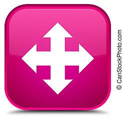 Move icon special pink square button