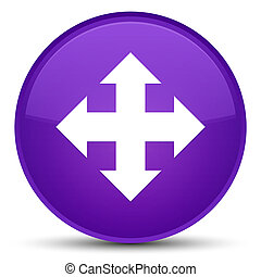 Move icon special purple round button