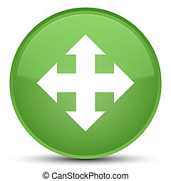 Move icon special soft green round button