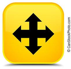 Move icon special yellow square button