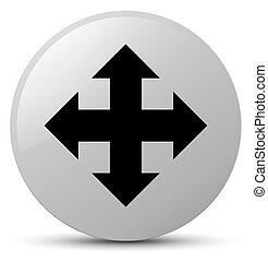 Move icon white round button