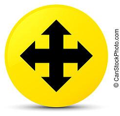 Move icon yellow round button