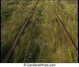 narrow-gauge railway - move on narrow-gauge railway hand car...