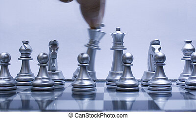 Move Silver Chess King