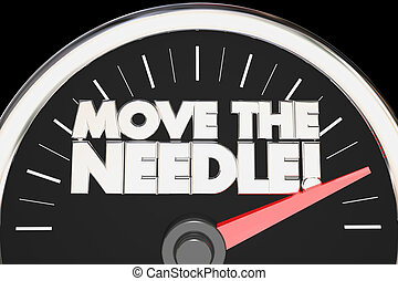 Move the Needle Speedometer Make Difference Change 3d...