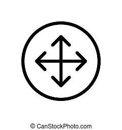 move  thin line icon