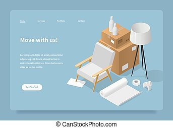 Move With Us Landing Page Concept
