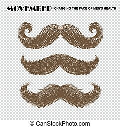 movember, ensemble, moustache