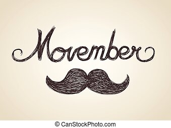 Movember, is an annual event involving the growing of moustaches during the month of November to raise awareness of men's health issues.
