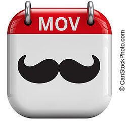 Movember Moustache Month - Movember moustache month isolated...