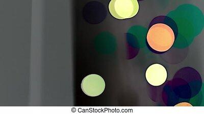 movement colorful bokeh different colors.