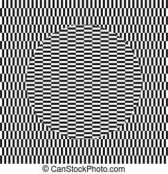 movement., effect., dinâmico, óptico, rotação, ilusão, torção