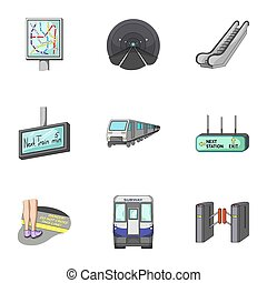 Movement, electric transport and other web icon in cartoon style.Attributes, public, means, icons in set collection.