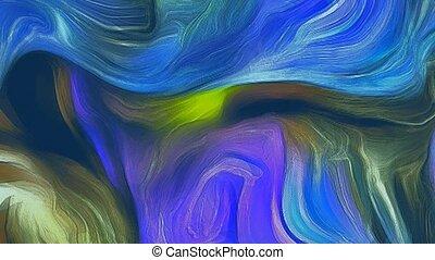 movement., graphique, conception abstraite, typon, coloré, ...