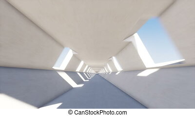 Movement in a long tunnel
