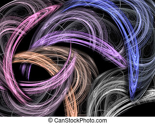 Movement - Moving swirls of color on black