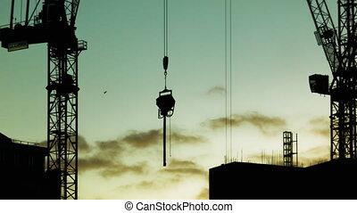 Movement of a crane