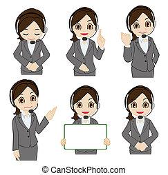 Movement of female operator