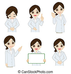 Movement of female researcher