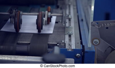 movement of finished products in printing house - pan white...