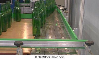 Movement of glass bottles