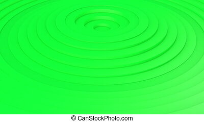 Movement of green rings. 3d animation