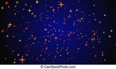 movement of stars on a black and blue background