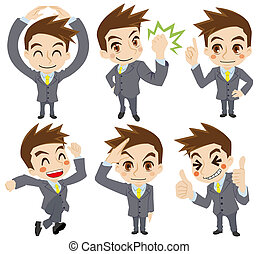 Movement of the businessman