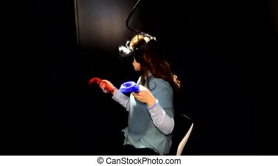 movement of the viewer in the virtual reality cinema with...