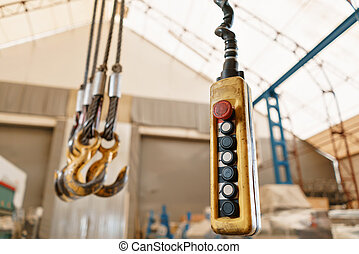 Movement remote control pendant switch for overhead crane in the factory