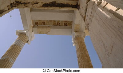 movement through the Propylaea gate with a steadicam