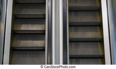 Movement up and down escalators HD