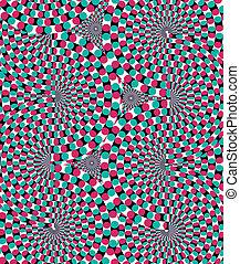 movement., vektor, hatás, látási
