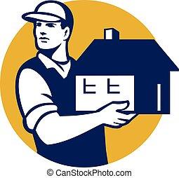 Mover Handling House Circle Retro