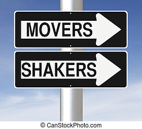 Movers and Shakers - Conceptual one way street signs...