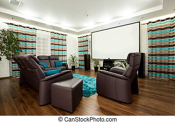 Movie at home - Picture of luxury family room with movie at...