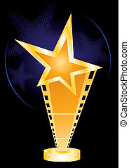 Movie award - Gold music awards for movie industry designs