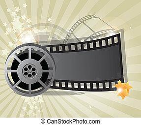 Movie background, vector