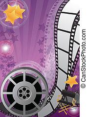 Movie background vertical, vector