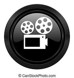movie black icon cinema sign