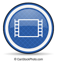 movie blue icon