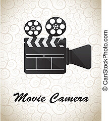Movie Camera over white background vector illustration