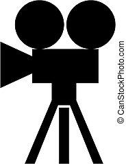 movie camera, pictogram