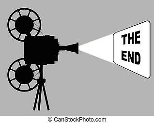 Movie Cine Projector The End - A mocie cinema ine projector...