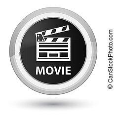 Movie (cinema clip icon) prime black round button