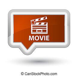 Movie (cinema clip icon) prime brown banner button