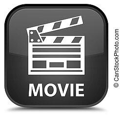 Movie (cinema clip icon) special black square button